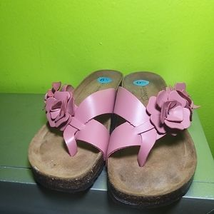 A. Giannetti Pink Cork Sandals size 6.5